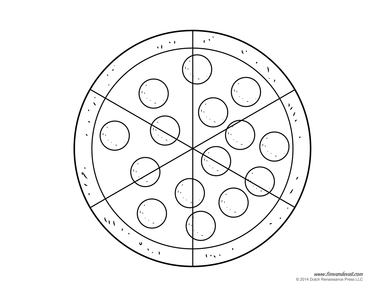 Fraction Pie Divided into Quarters | ClipArt ETC | Fractions, Fraction  circles, Fraction art