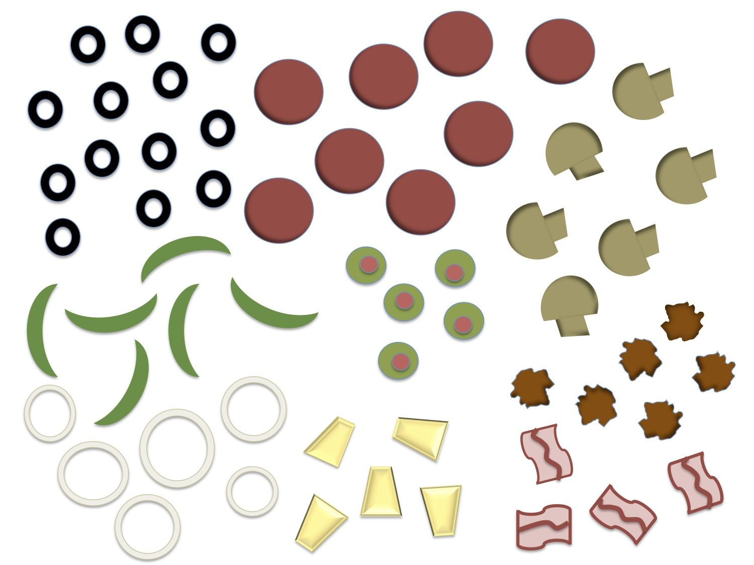 Fractions clipart pizza craft. Printable toppings free flight
