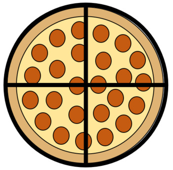 Fraction worksheets teaching resources. Fractions clipart pizza slice
