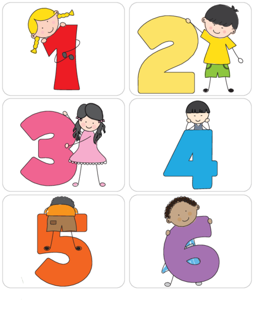 Fraction clipart preschool. Kid s learning numbers
