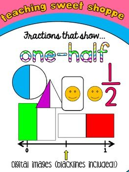 Clip art one half. Fraction clipart represented