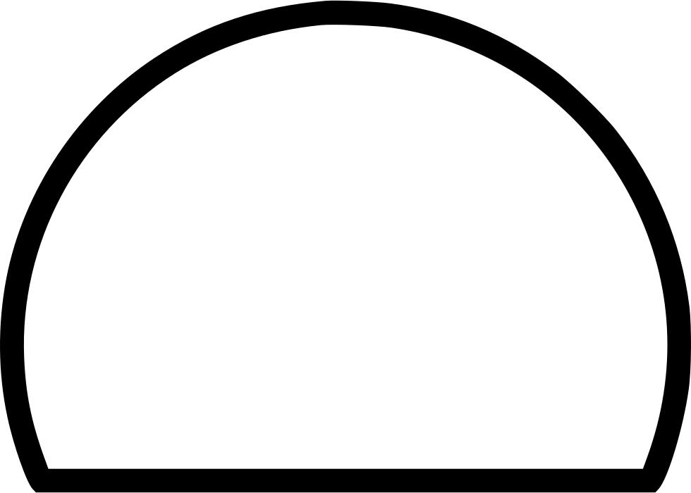 Semicircle hemicircle sign logo. Fractions clipart half