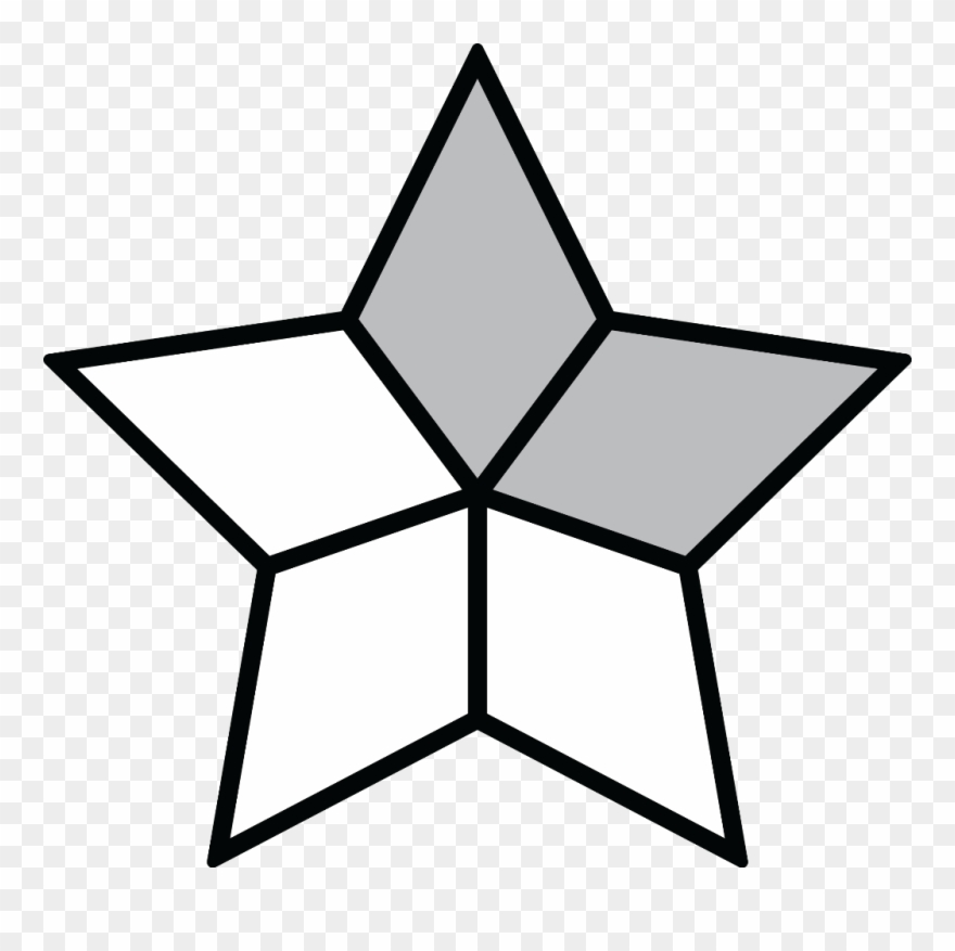 Fractions clipart shaded. Fraction point star png