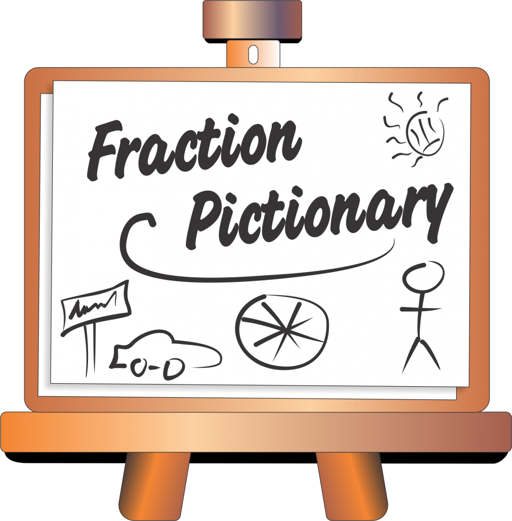 Pictionary pinterest math gaming. Fraction clipart shaded