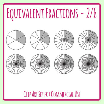 Fraction clipart similar fraction. Equivalent fractions two sixths