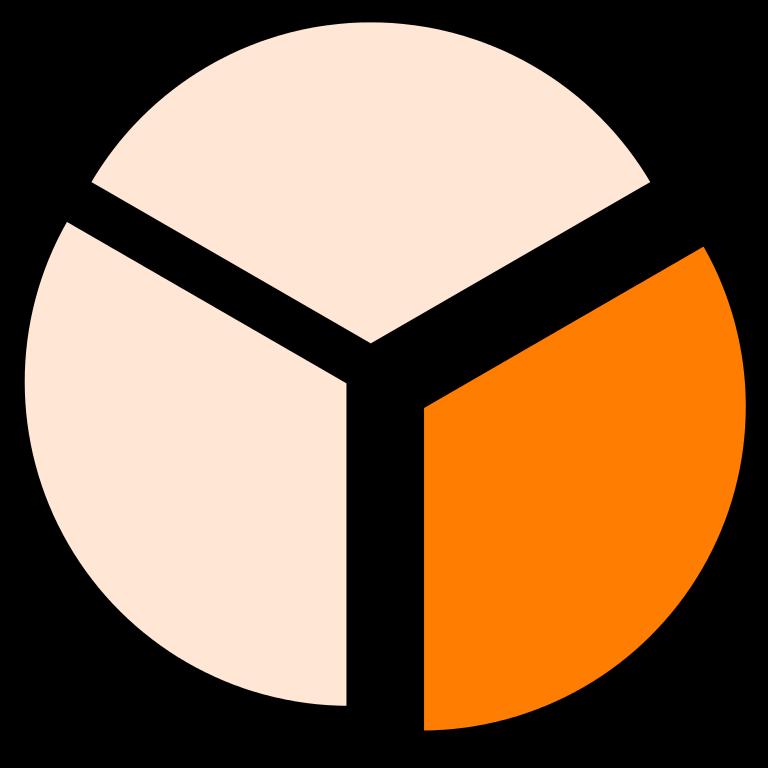 File piechartfractiononethirdsplit svg wikimedia. Fractions clipart cake