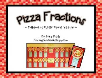 Fractions clipart title page. Pizza fraction bulletin board