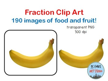 Food and fruit clip. Fraction clipart unit fraction