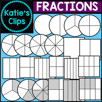 Circle square fractions katie. Fraction clipart unshaded