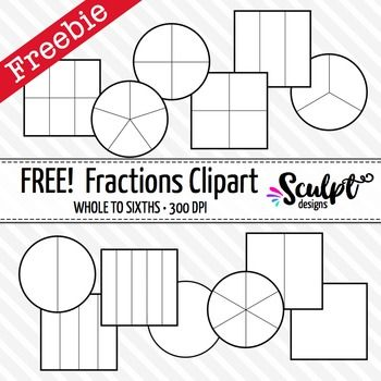 Clip art free black. Fractions clipart whole
