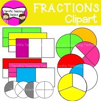 Fractions clipart whole. Clip art halves thirds