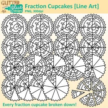 Fraction clipart word. Cupcake clip art math