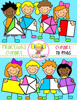 Kids by victoria saied. Fractions clipart