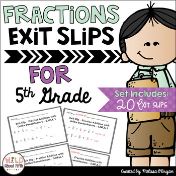 Fractions clipart 5th grade math. Exit ticket slips th