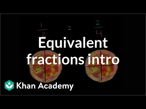 Fractions clipart everyday. Equivalent video khan academy