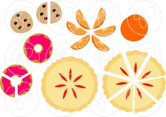Math manipulatives set dpi. Fractions clipart food
