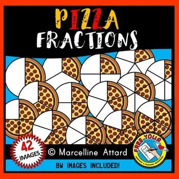 Pizza world of . Fractions clipart food