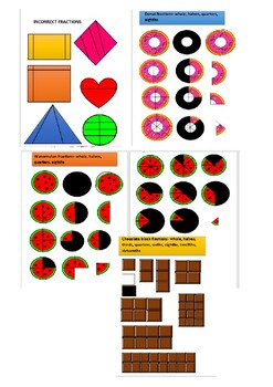 Food shape incorrect more. Fractions clipart fun fraction