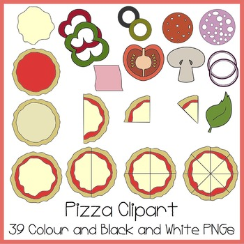 Ideal for math clip. Fractions clipart pizza craft