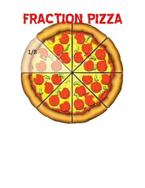 Lessons tes teach . Fractions clipart pizza printable
