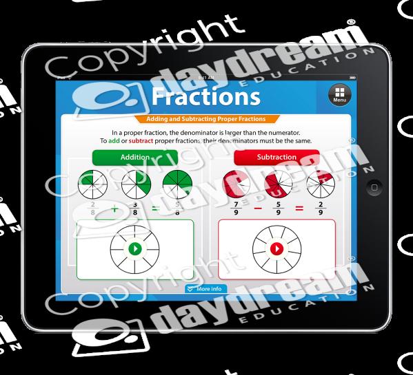 App . Fractions clipart proper fraction