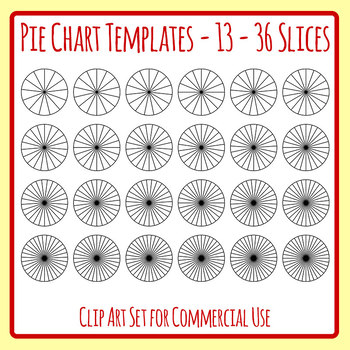 Pie chart or fraction. Fractions clipart template