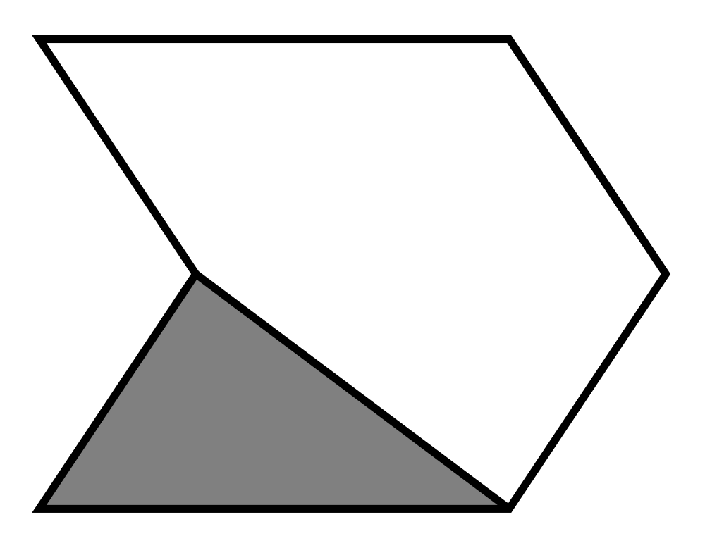 File fraction in figure. Fractions clipart triangle