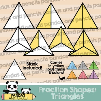 fractions clipart triangle