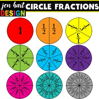 Set circles by jen. Fractions clipart