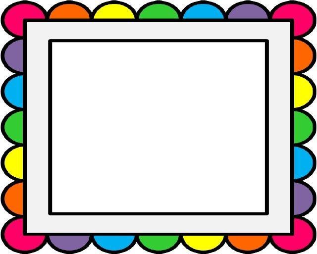 Frames clipart. Borders and frame rainbow