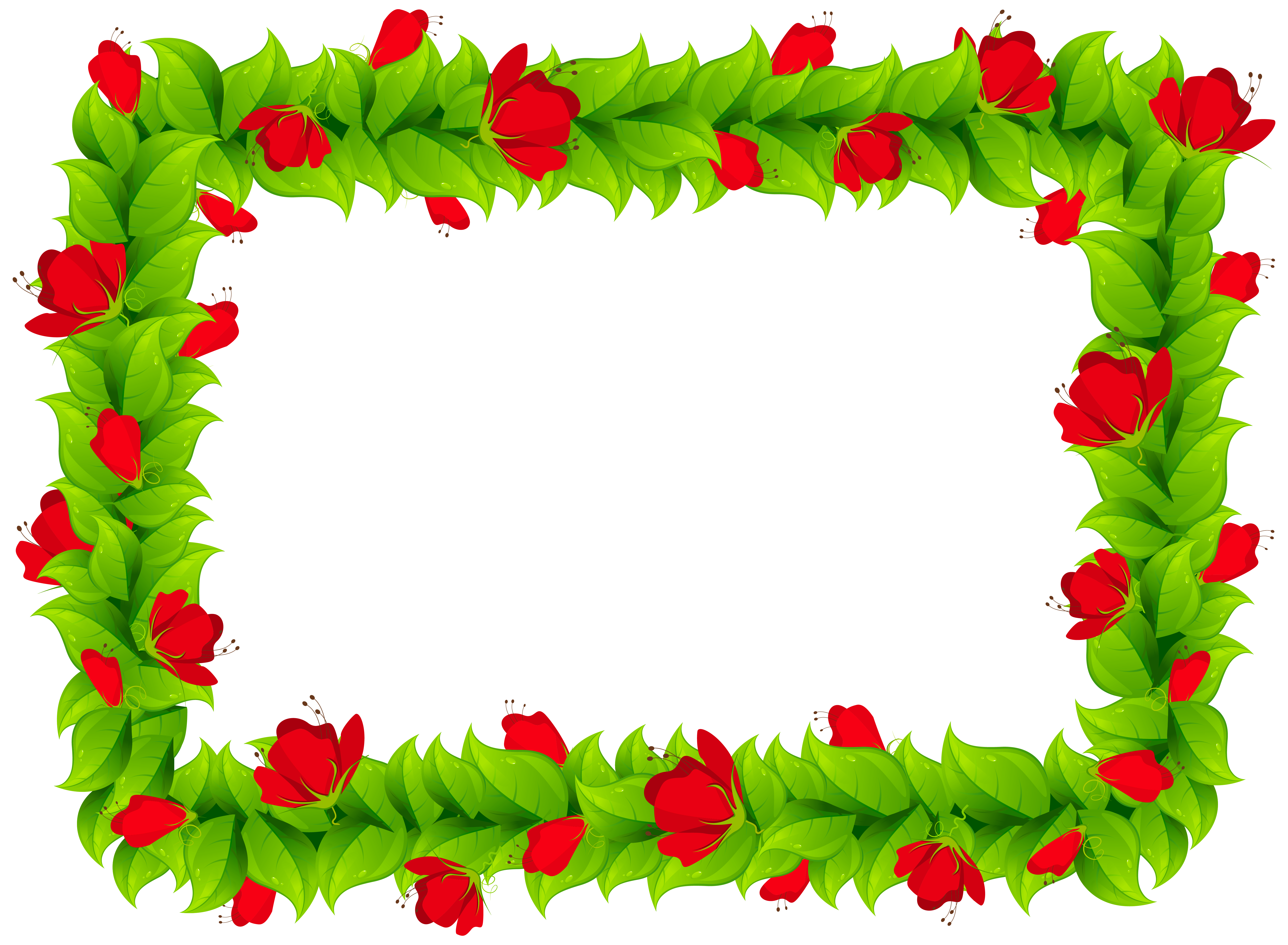 Border clipart png. Floral frame image gallery