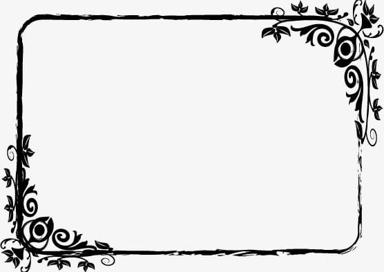 Pattern png . Frame clipart black and white