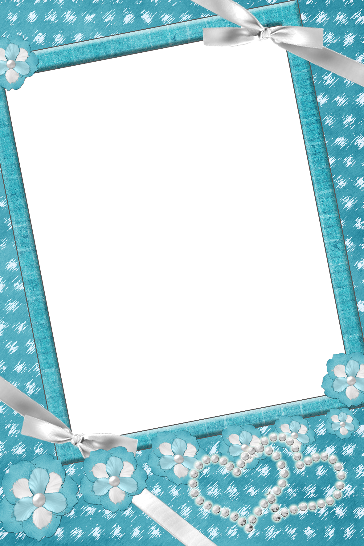Transparent with flowers and. Frame clipart blue