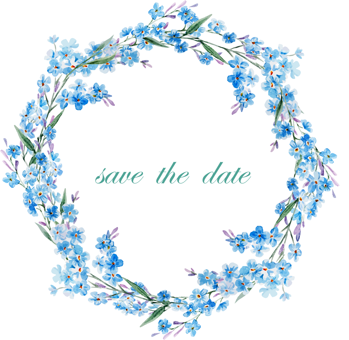 Frames clipart blue flower. Picture frame clip art