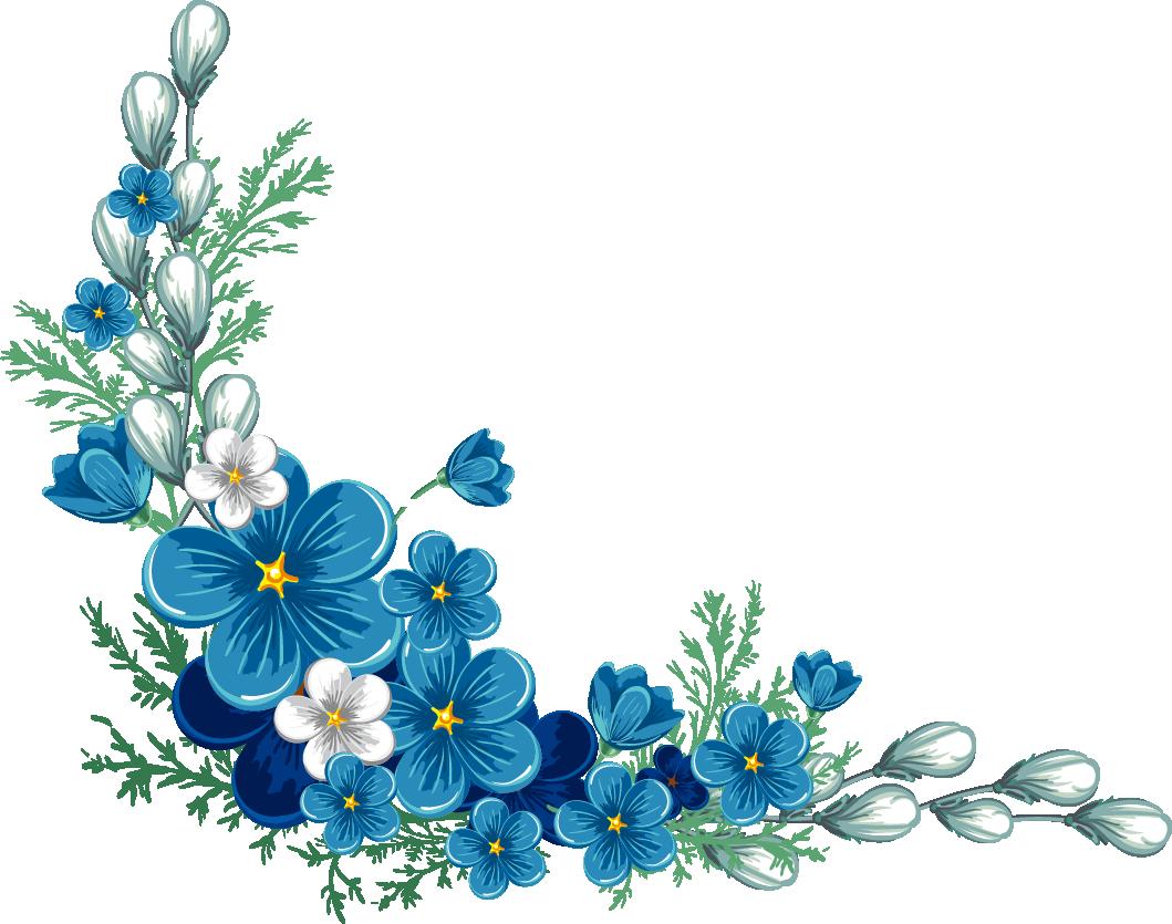 Frames clipart blue flower. Flowers border png