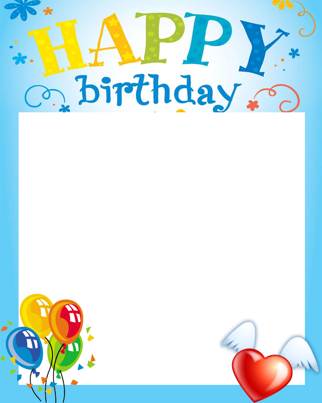 Birthday clipart picture frame. Cake happy card clip