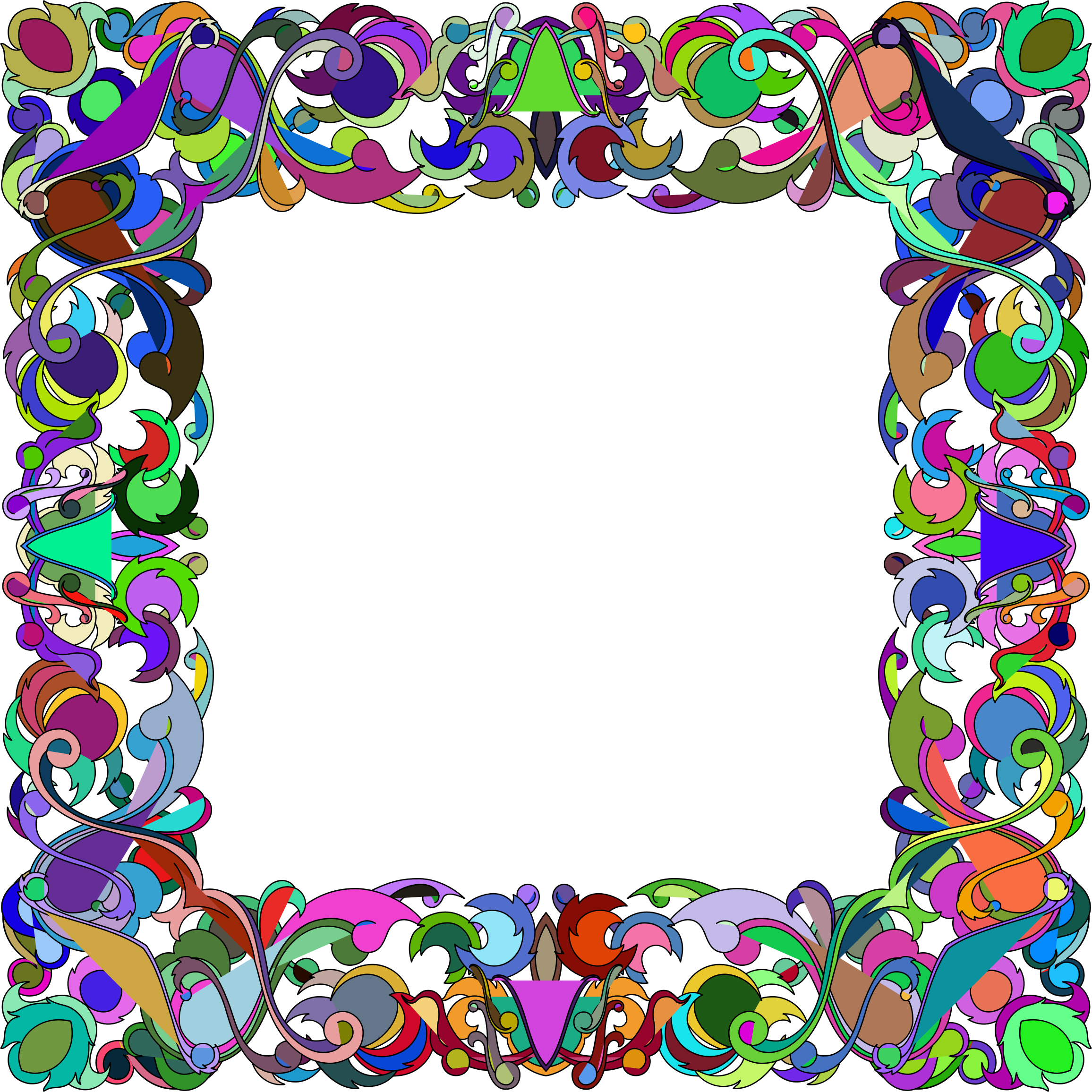 Frame clipart colorful. Abstract big image png