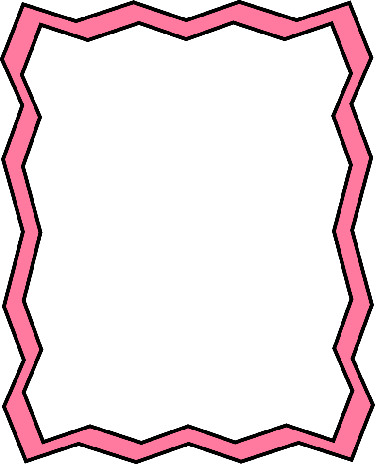 Full page pink zig. Frame clipart colorful