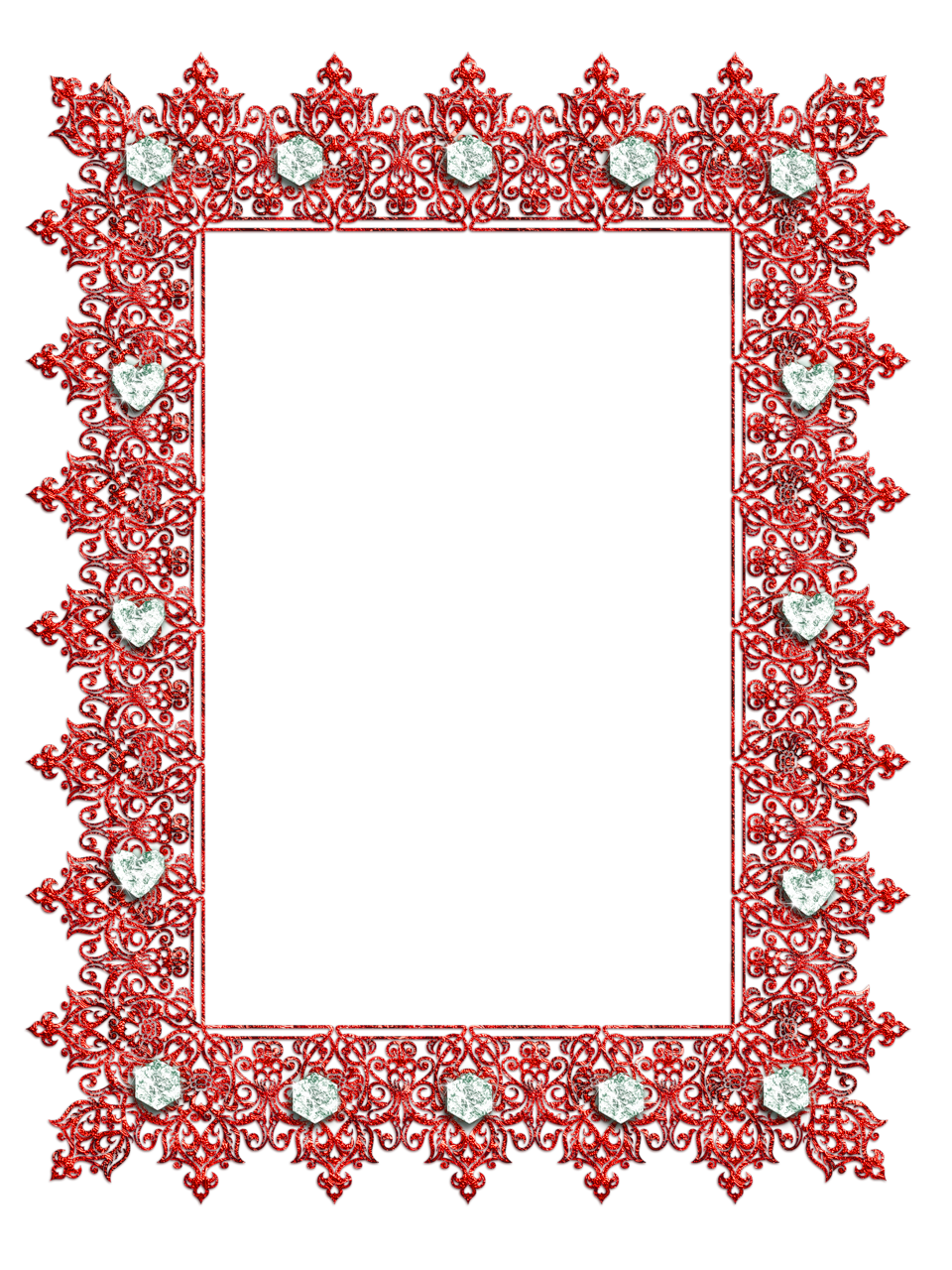 Red transparent with diamonds. Frame clipart fruit
