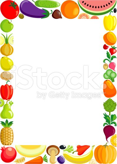 Colorful made of variable. Frame clipart fruit