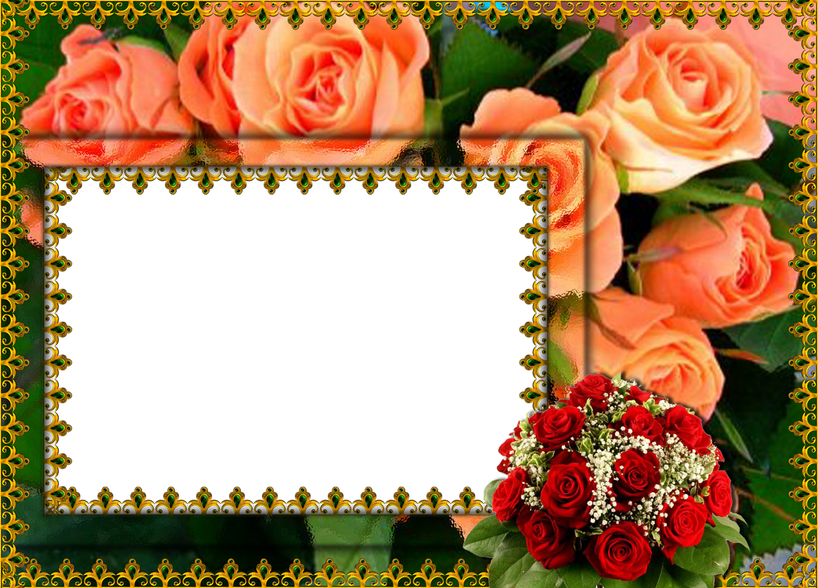 Flower picture frames film. Garden clipart family