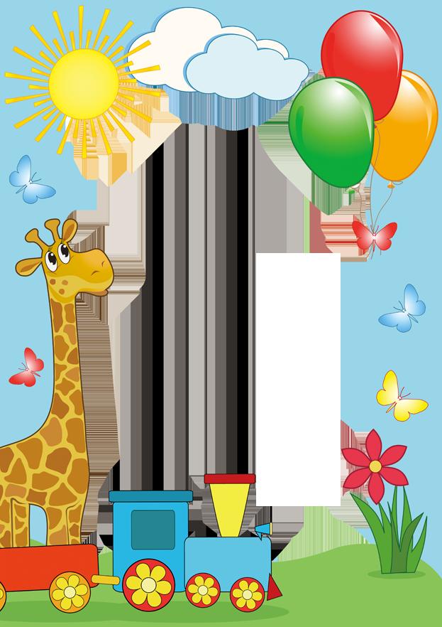 Frames clipart giraffe. Child picture frame illustration