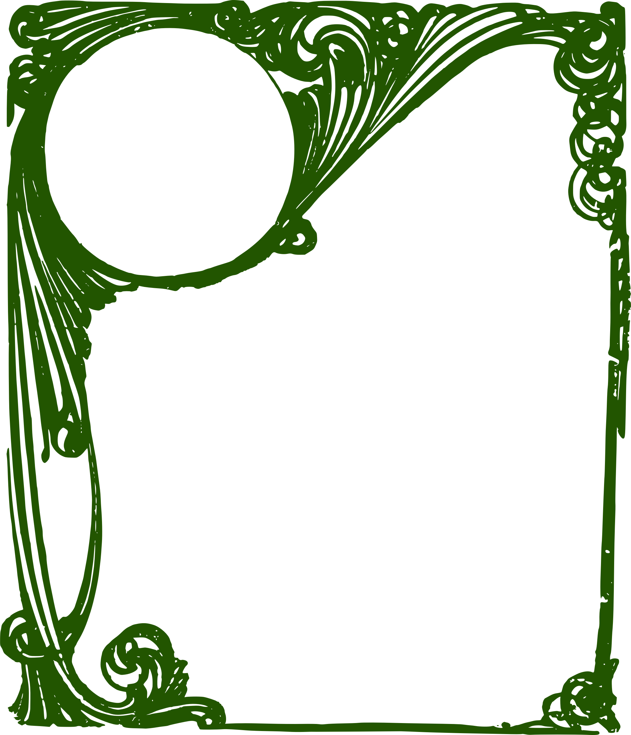 Frame clipart green. Curly big image png