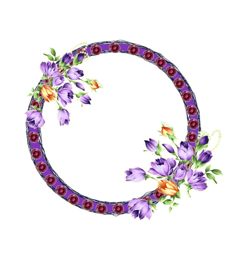 Lilac with flowers by. Lavender clipart frame