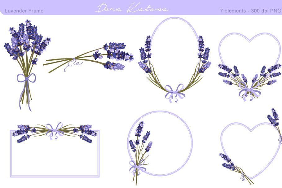 Flower and . Lavender clipart frame