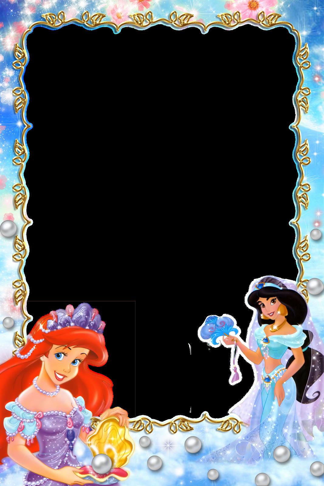Frame clipart mermaid. Imagens para photoshop princesas