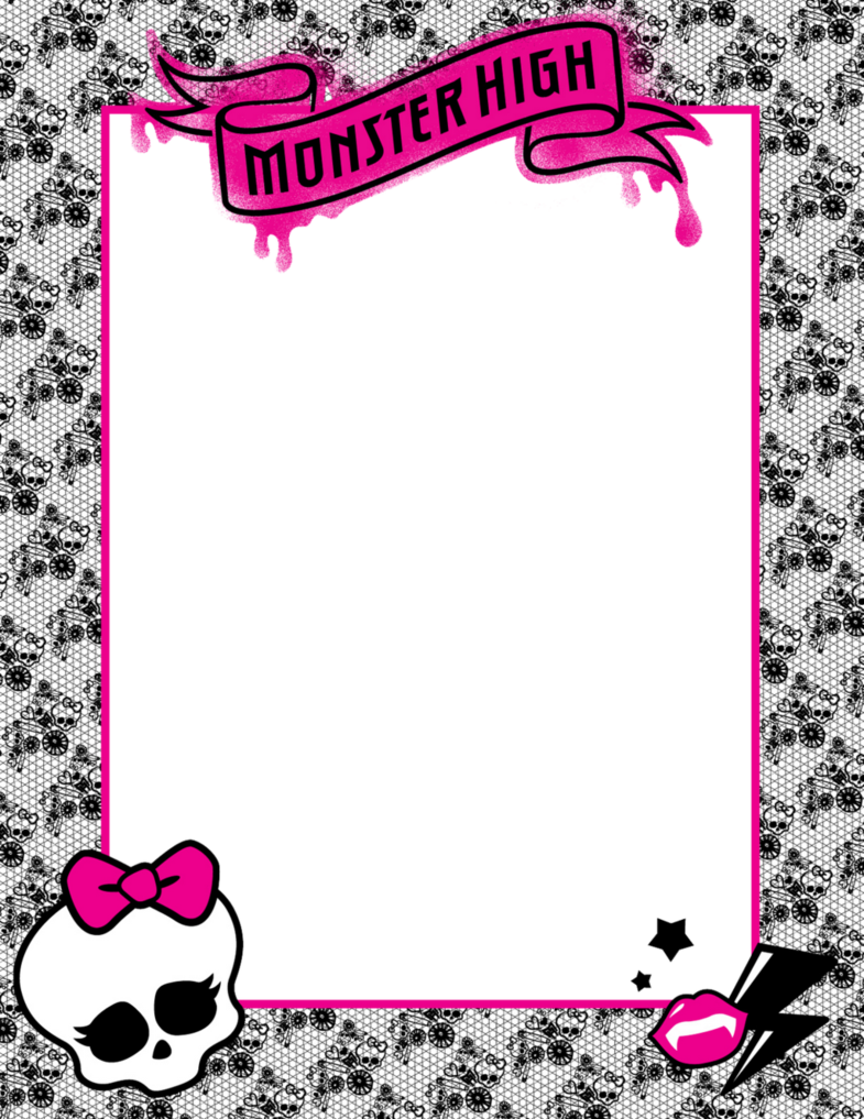 High border by silvermoonlight. Frame clipart monster