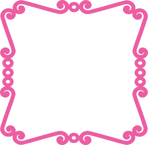 Scroll clipart scrolly. Frame pink clip art