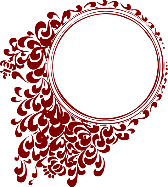 Frame clipart red. Deep circle clip art