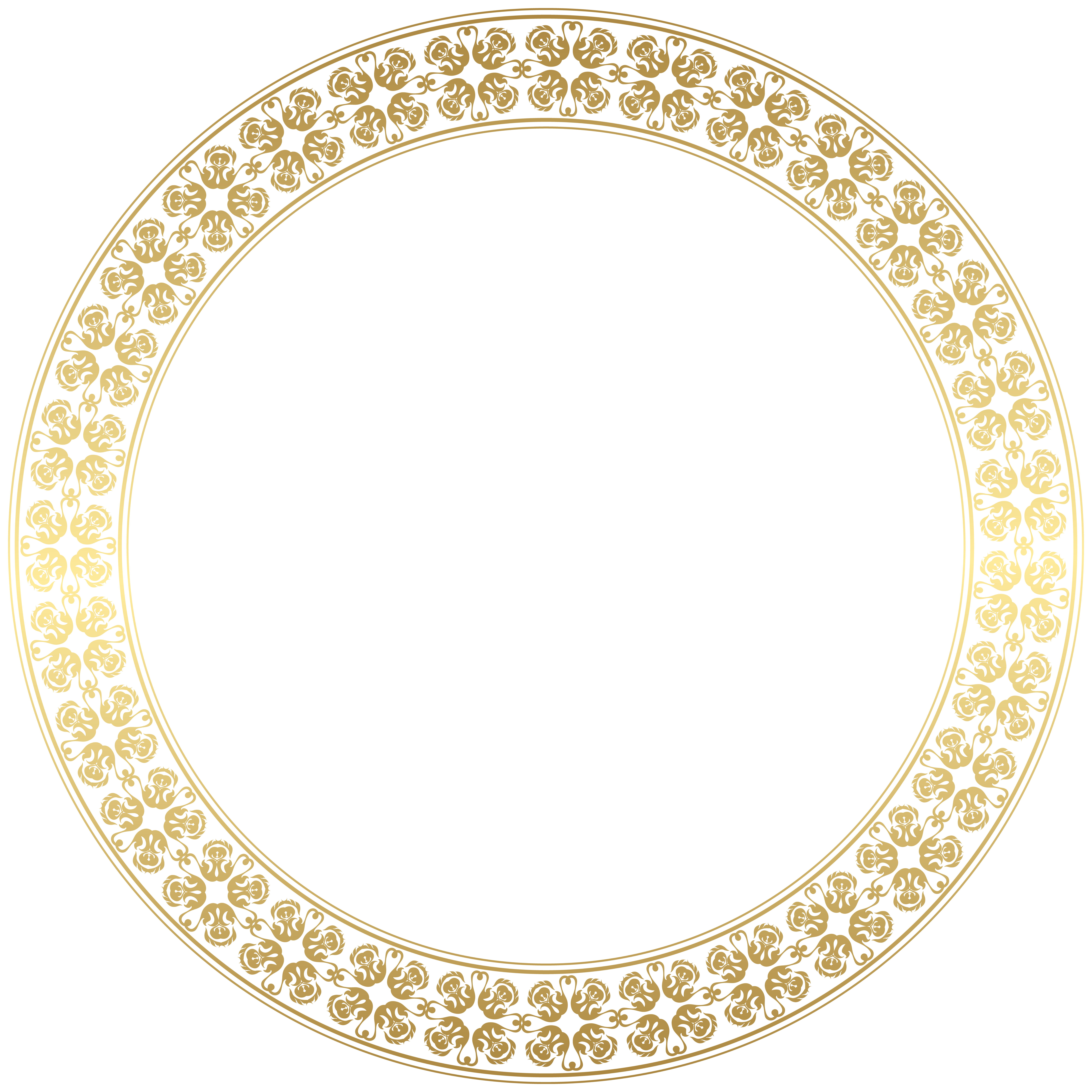 Picture clip art border. Round gold frame png
